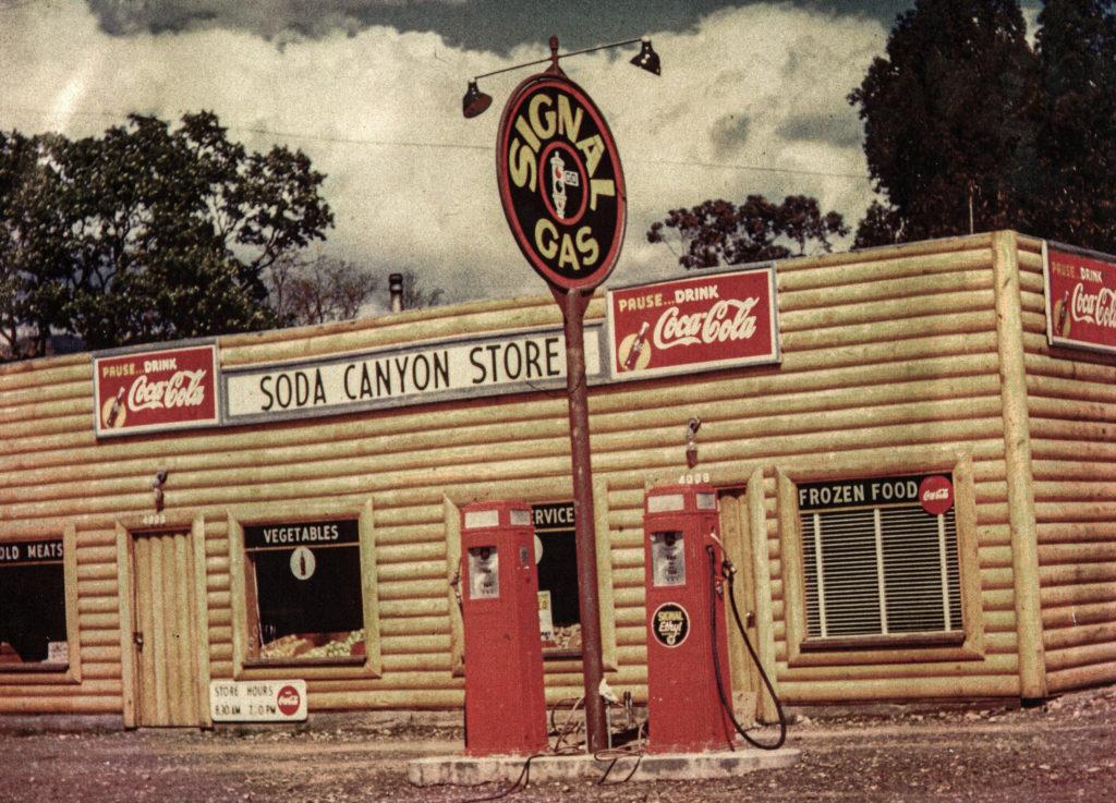 historic photo of Soda Canyon Store
